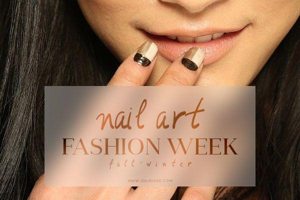 Nail Art Autunno Inverno 2014-15 – Fashion Week #nail #fashionweek #moda #nailart