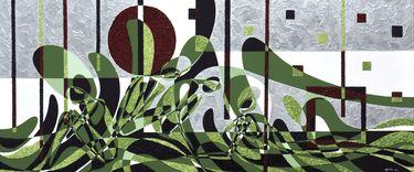 "Saatchi Art Artist Graziella Coi; Painting, ""Le bagnanti e l'erba/ The bathers and the grass (SOLD)"" #art"