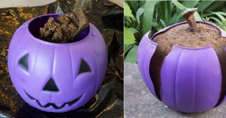 Make a concrete pumpkin!