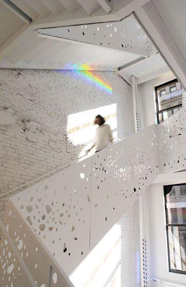 white stairwel