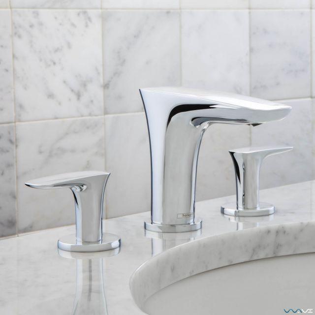 Hansgrohe Puravida 3 Hole Basin Mixer Tap Bathroom Taps Uk