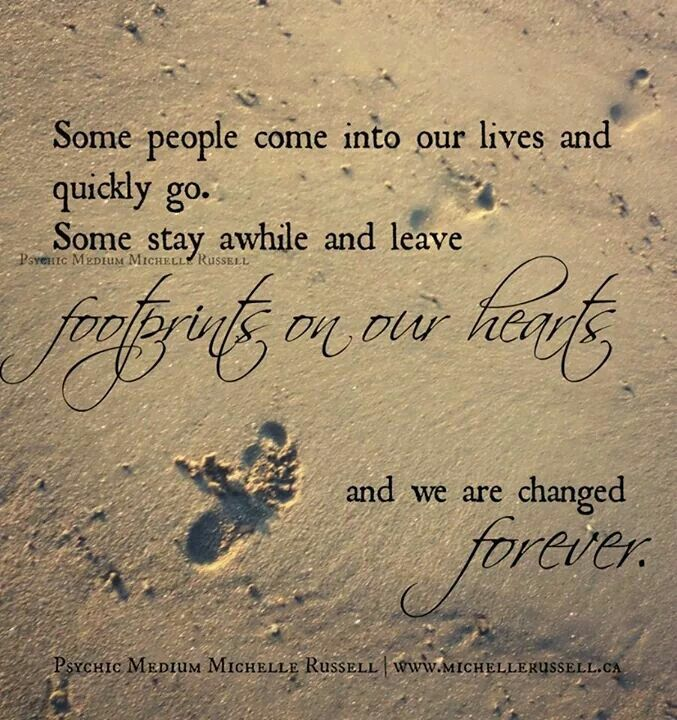 Friends Come And Go Quotes Footprints: Some People Come Into Our Lives And Quickly Go. Some Stay
