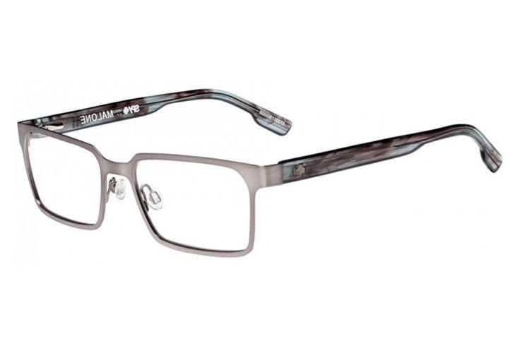 Spy - Malone 53 Brushed Gunmetal / Grey Smoke Rx Glasses