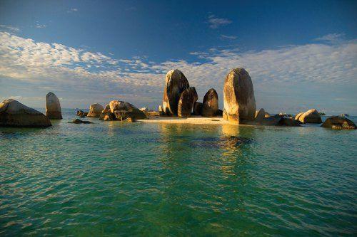 Granite Stones at Lengkuas Island, Bangka Belitung, Indonesia