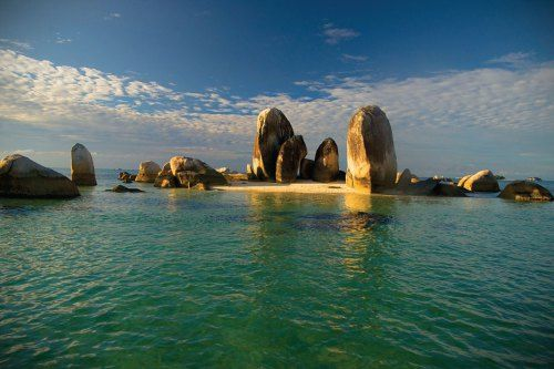 Granite Stones at Lengkuas Island, Bangka Belitung, Indonesia