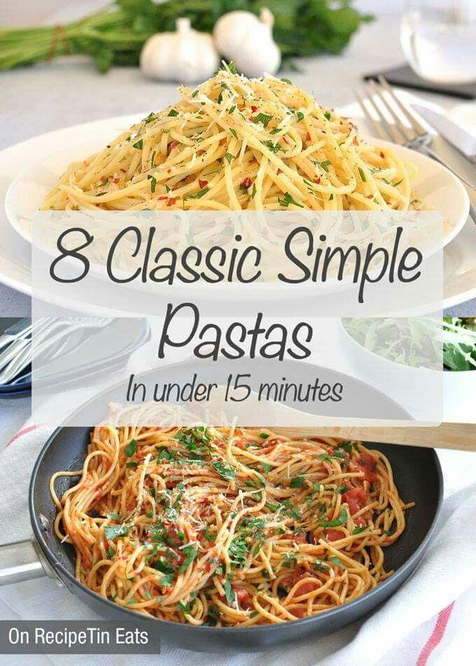8 Classic Simple Pastas