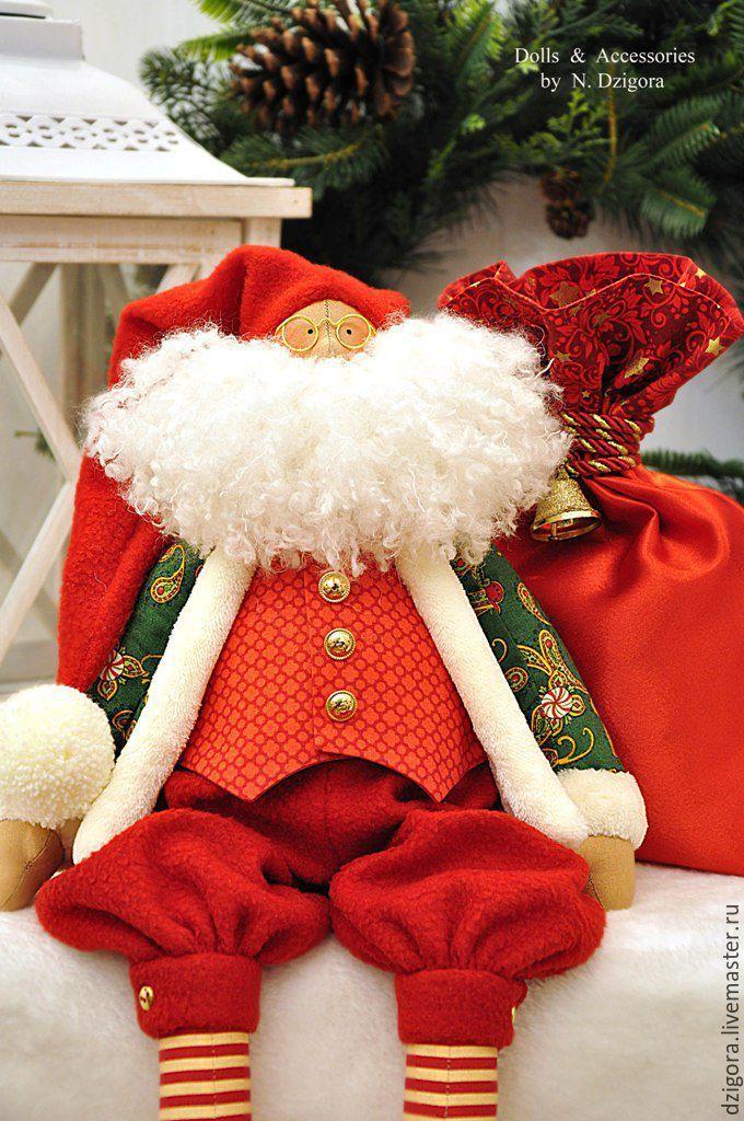Купить Санта Клаус с большим мешком - санта, санта клаус, санта-клаус, санта тильда
