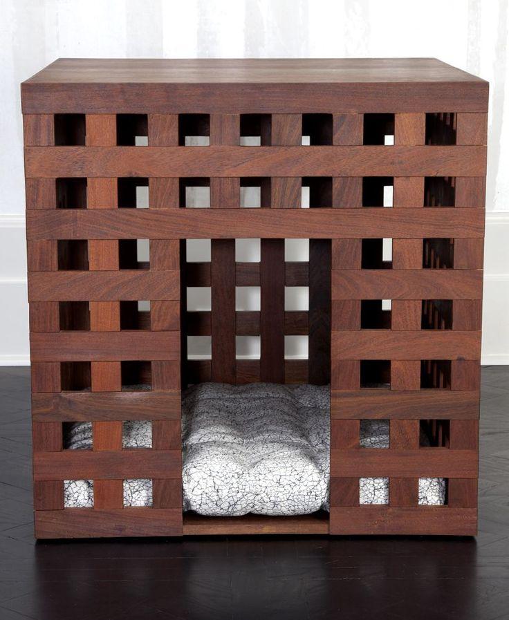 KELLY WEARSTLER JUXTAPOSE DOG HOUSE. Made from Ipe Wood