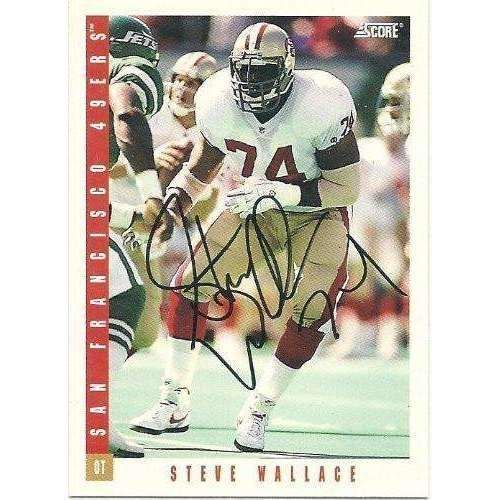 1993, Steve Wallace, San Francisco 49ers, Signed, Autographed, Score Football Card, Card # 395, a COA Will Be Included