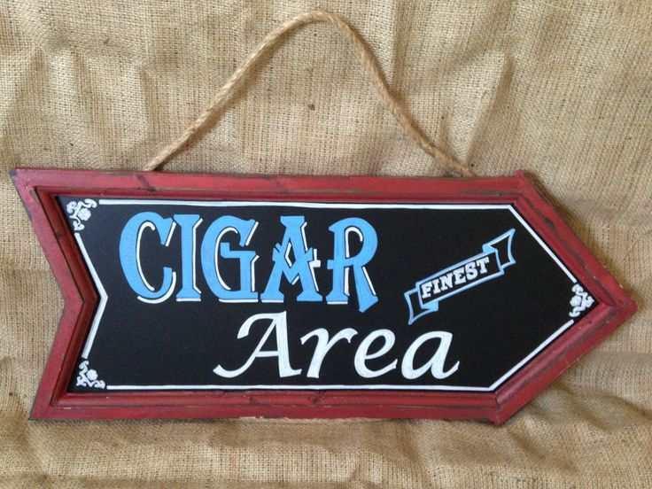 Arrow Chalk Board- Cigar Area