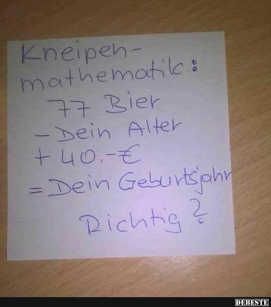 Kneipen-mathematik..