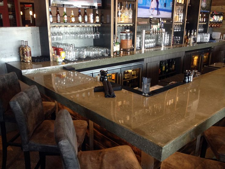 kitchen cabinets countertops ideas island table combo polished concrete commercial countertop - google search ...
