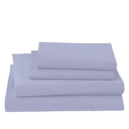 Chambray 3-Piece Denim Blue Twin XL Sheet Set