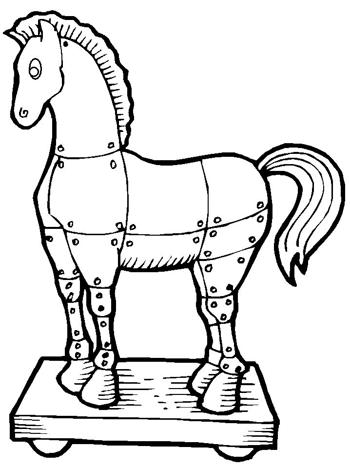 Trojan Horse Greek Coloring Pages