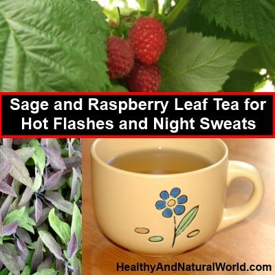 How to Make Sage and Raspberry Leaf Tea for Hot Flashes and Night Sweats