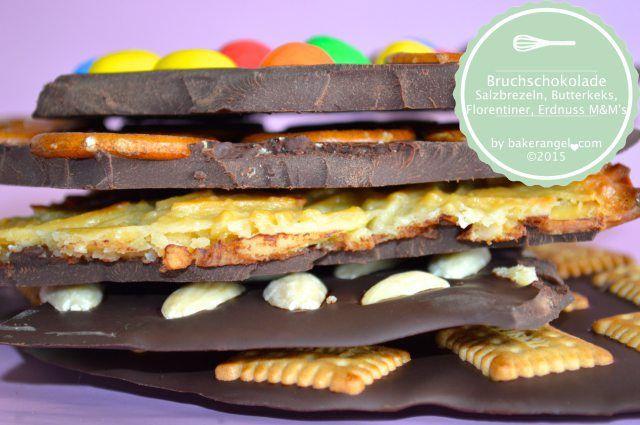 Selbstgemachte Bruchschokolade by bakerangel.com