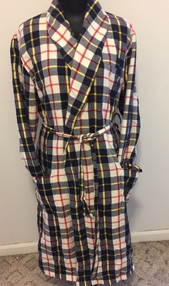 0e924a375c LL Bean Flannel Robe Fleece Lined Tartan Plaid Ladies M Reg Bathrobe  Pockets  LLBean  Robes  Everyday