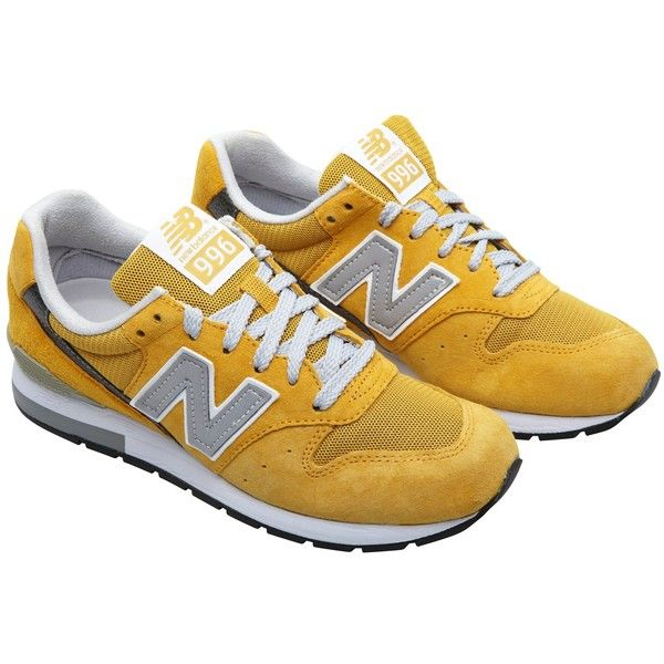 New Balance Model 996 sneakers (2 965 UAH) ❤ liked on Polyvore featuring shoes, sneakers, trainers, chaussures, yellow, new balance, yellow shoes, yellow sneakers, new balance footwear and new balance shoes