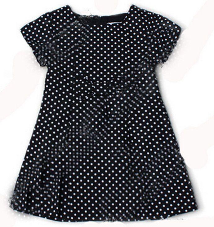 black white vintage polka dot dress children clothing baby brand kids dress frock 2015 fashion vestidos infantis roupas meninas