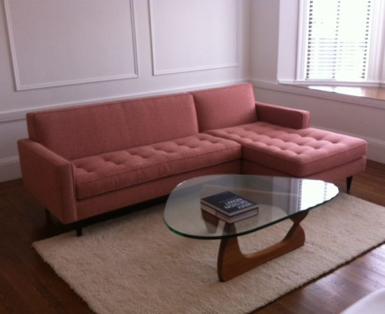 san francisco reese sofa and chaise by room and board mid century modern couch