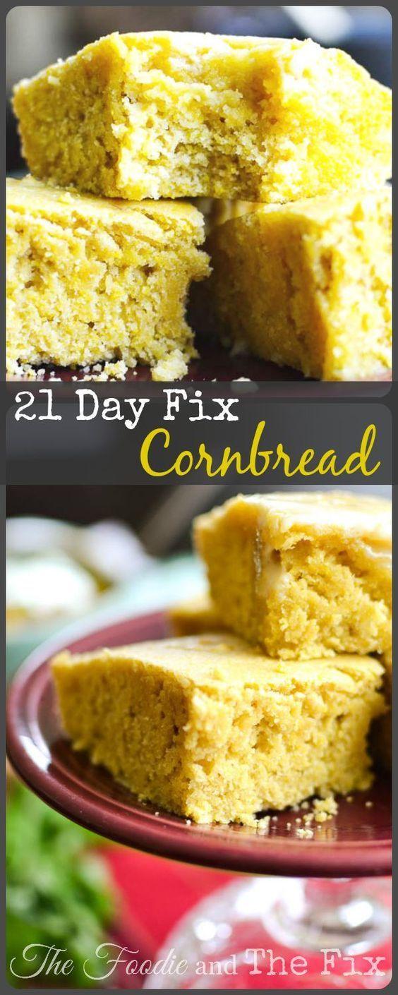 21 Day Fix Cornbread Recipe! Great texture! 1 YELLOW, 1 1/2 TSP:
