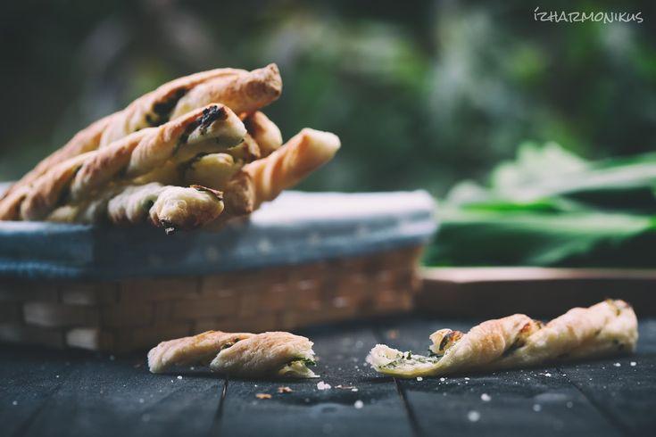 ízharmonikus: Medvehagymás-sajtkrémes rúd