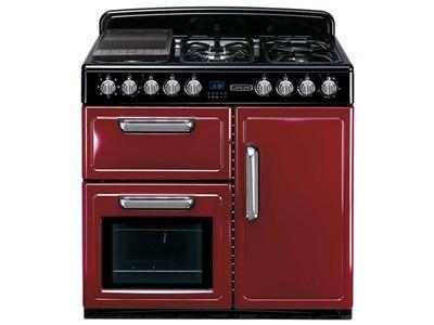 Maxi cuisinière 5 feux, 3 fours coloris bordeaux LEISURE CM09R prix promo Conforama 1 199.00 € TTC au lieu de 1 399.00 €