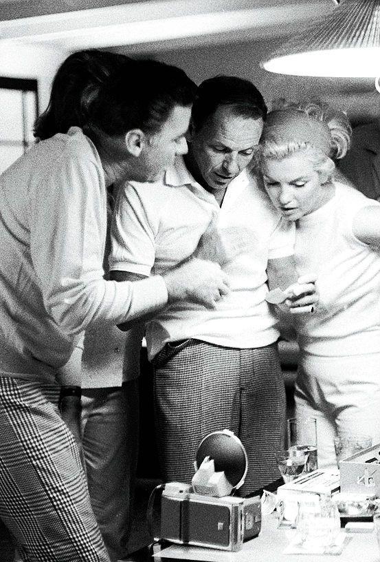 Marilyn Monroe, Frank Sinatra & Peter Lawford ~ 1961
