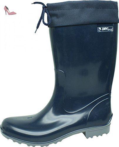 BOCKSTIEGEL® RITA Femmes - Bottes en caoutchouc élégant (Tailles: 36-42), Couleur:noir / multi;Taille:41