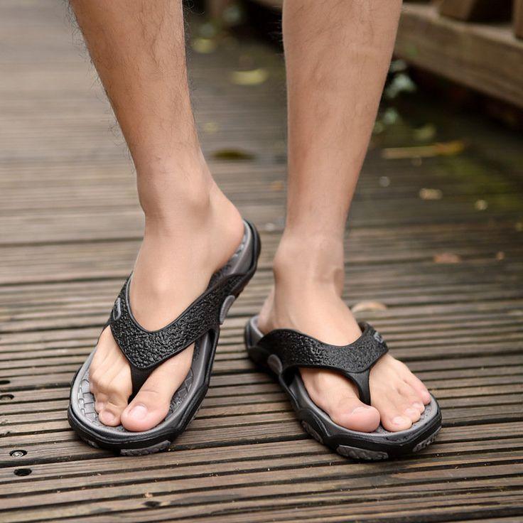 Men's Casual Flip-Flops  Beach Shoes