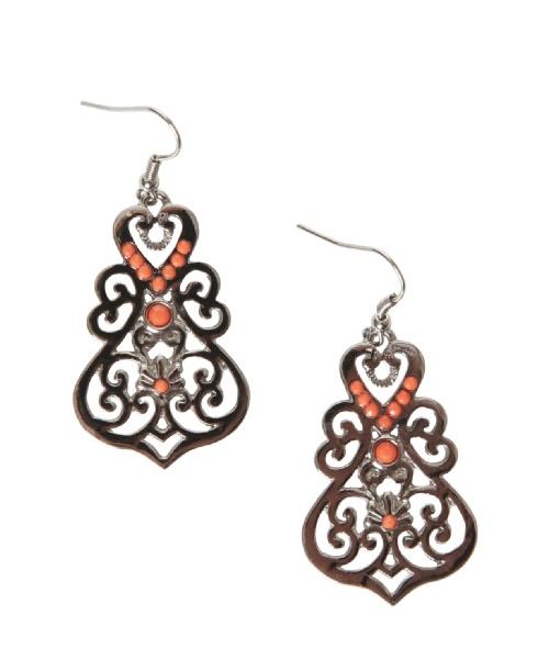 kismet filigree and coral bead earrings @Chris Munroe