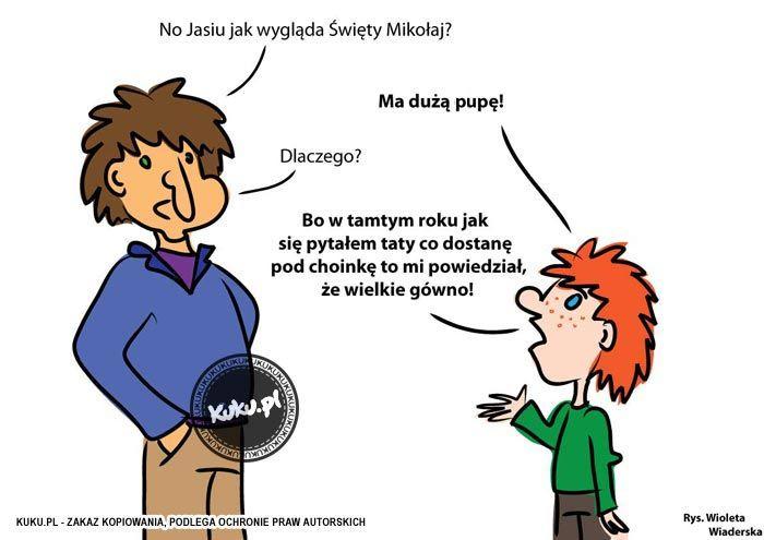 """Komiks """"Jak wygląda św.Mikołaj?"""" (źródło: http://kuku.pl)"""