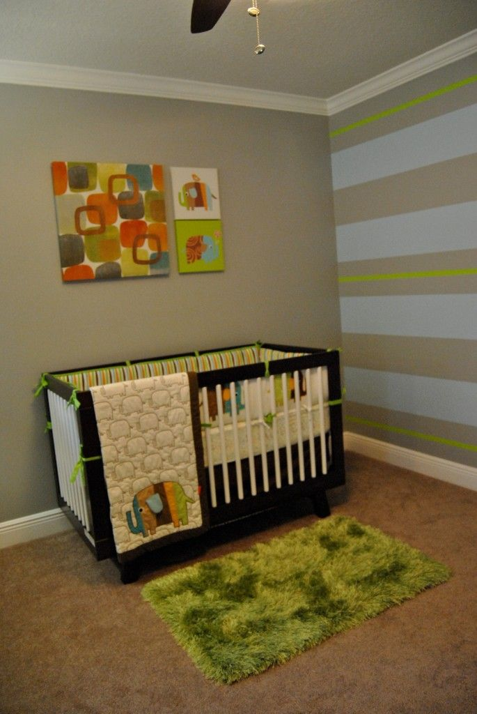 Two-Tone Espresso + White Babyletto Hudson 3-in-1 Convertible Crib in Gavian's Modern Baby Boy Nursery on @Project Nursery | Junior