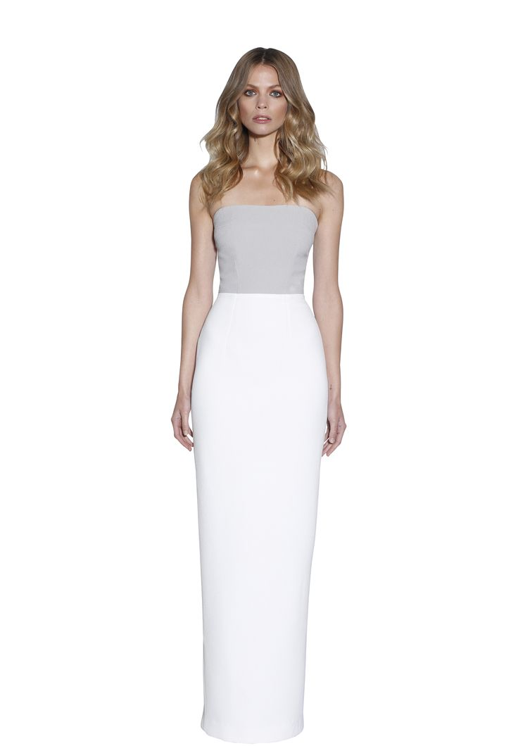 MARBLE TONES COLUMN STRAPLESS DRESS | #W #BYJOHNNY #LIMITEDEDITION #AUSTRALIANFASHION