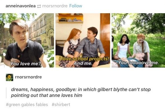 After having to wait that long I don't blame him xD // green gables fables