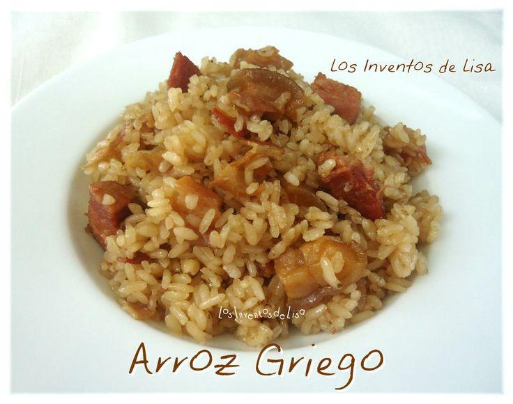 Hoy les comparto mi menú.   Éste arroz queda divino , se deja comer solito .   Y te preguntarás porqué se llama así?....pues ni idea LOL...