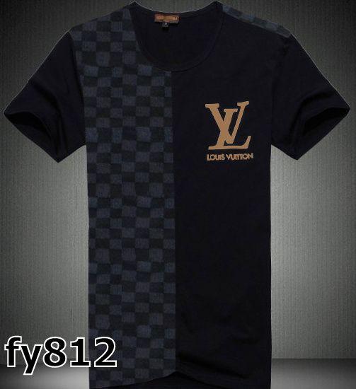 Louis Vuitton Mens Short T-Shirts Black Grey  $56.99  www.gomalllv.com