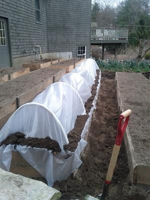 Click through for instructions on how to build an inexpensive PVC greenhouse.
