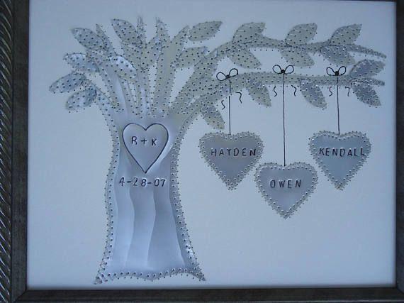 Tin Anniversary Gift  10 Year Anniversary Gift  Family Tree
