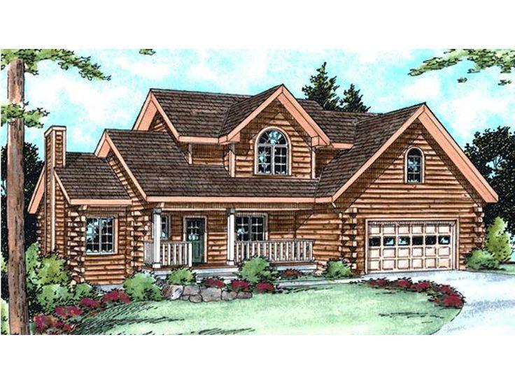 031L 0014  4 Bedroom Log House Plan. 61 best Log House Plans images on Pinterest   Logs  Log homes and