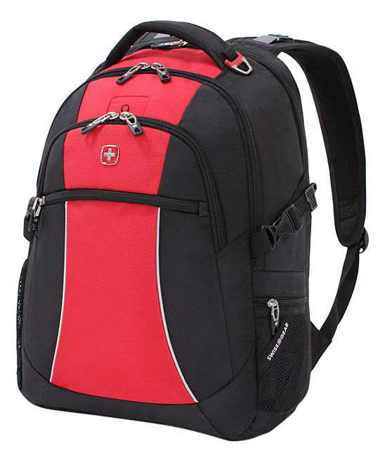 Red Course & Black Swiss Gear 18.5'' Backpack