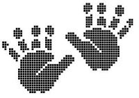 personnage - character - empreinte - point de croix - cross stitch - Blog : http://broderiemimie44.canalblog.com/