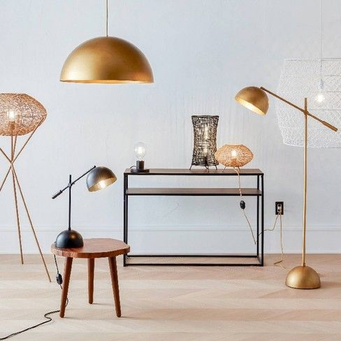 Metal Dome Task Floor Lamp Gold Includes Energy Efficient Light Bulb Project 62 Leanne Ford Target Home Decor Home Decor Ford Lighting