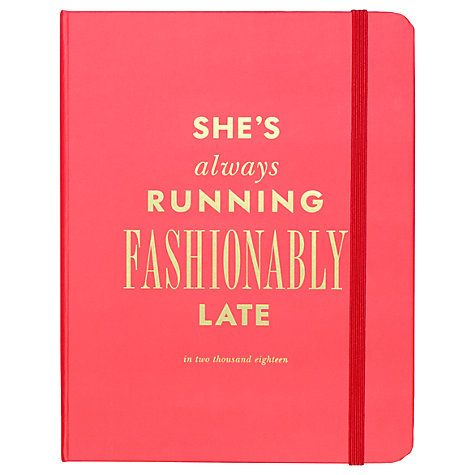 Kate Spade new york 17 Month Fashionable Late 2017/2018 Academic Diary, Pink Online at johnlewis.com (affiliate)