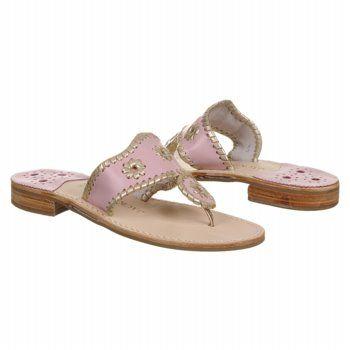 Jack Rogers Navajo Sandals (Light Pink/Platinum) - Women's Sandals - 8.0 M