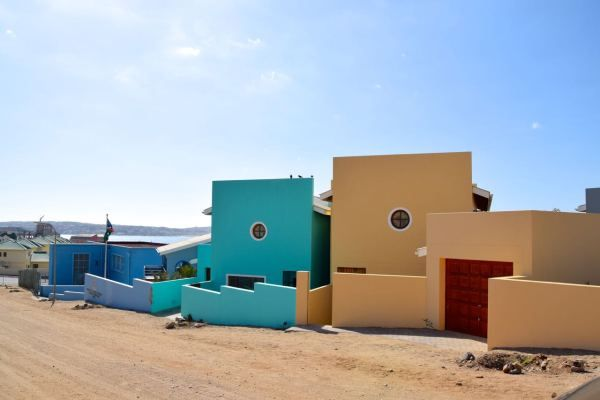 Luderitz Center Colorful Houses