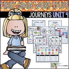 Journeys Word Study   Journeys Reading Series   First Grade Journeys   First Grade Journeys Phonics   Journeys Spelling Patterns   Journeys First Grade Unit 4   Word Work   By Teacher Jeanell