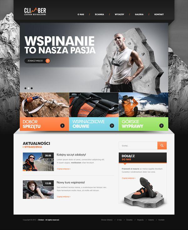 Climber - Website Design