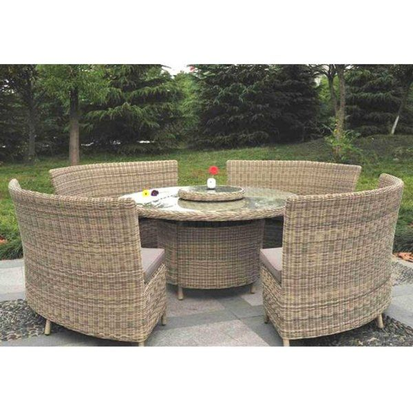 Rattan garden dining set for 12 with lazy susan table top http   www. 16 best images about Rattan Garden Furniture on Pinterest
