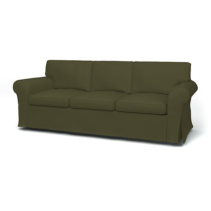 Would you consider green??  Ektorp, Sofa Covers, 3 Seater, Regular Fit using the fabric Panama Cotton Moss Green